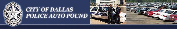 Dallas Auto Pound Banner